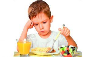 У мальчика отсутствие аппетита